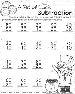 Printables Math For First Graders Worksheets march first grade worksheets planning playtime math worksheet for multiples of 10 subtraction