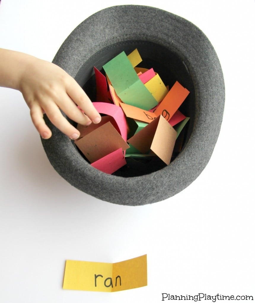 Pull It Out Of a Hat Fun Reading Activity for Kids