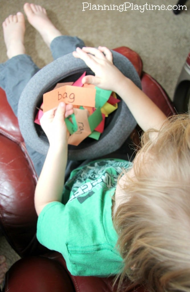 Pull it Out of a Hat Fun Reading Activity for kids.