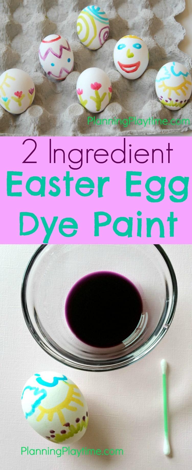 2 Ingredient Easter Egg Dye Paint