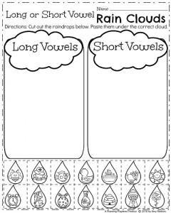Spring Kindergarten Worksheets  Planning Playtime April Kindergarten Worksheets  Long Or Short Vowel Sound Words