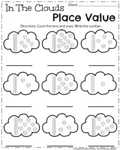 April Kindergarten Worksheets - Spring Math