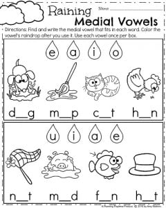 Spring Kindergarten Worksheets Planning Playtime