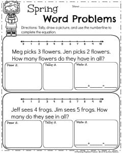 math worksheet : spring kindergarten worksheets  planning playtime : Quick Maths Worksheets