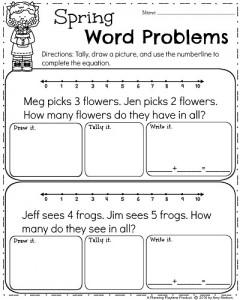 Spring Kindergarten Worksheets - Planning Playtime