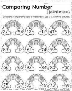 March Kindergarten Math Worksheets