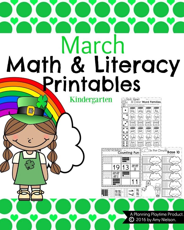 March Kindergarten Worksheets - Planning Playtime