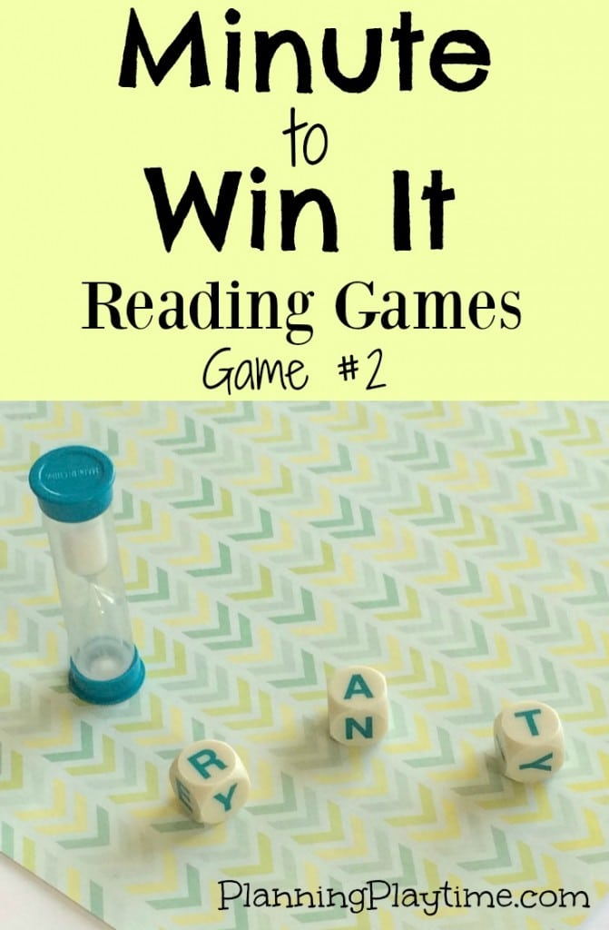 Minute to Win It Reading Games with Boggle pieces