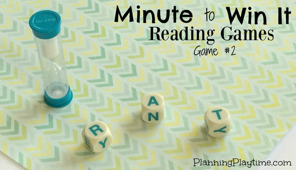 Minute to Win it Reading Game #2