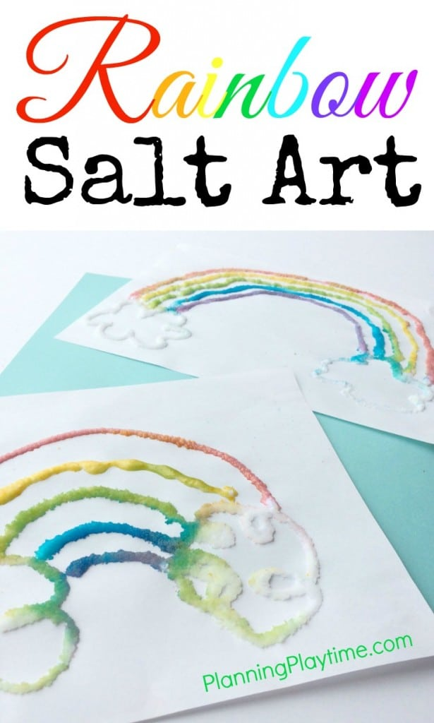 Rainbow Salt Art Project for Kids
