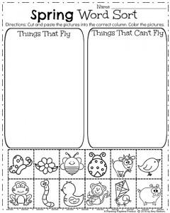 spring kindergarten worksheets planning playtime. Black Bedroom Furniture Sets. Home Design Ideas
