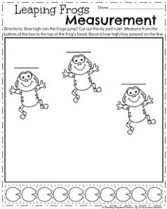 Spring Measurement Worksheet - April Kindergarten Math Worksheets