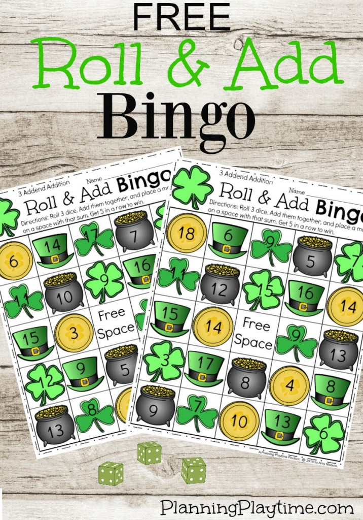 10 FREE Educational Printables for St. Patrick's Day - Games, play dough mats and more great stuff.