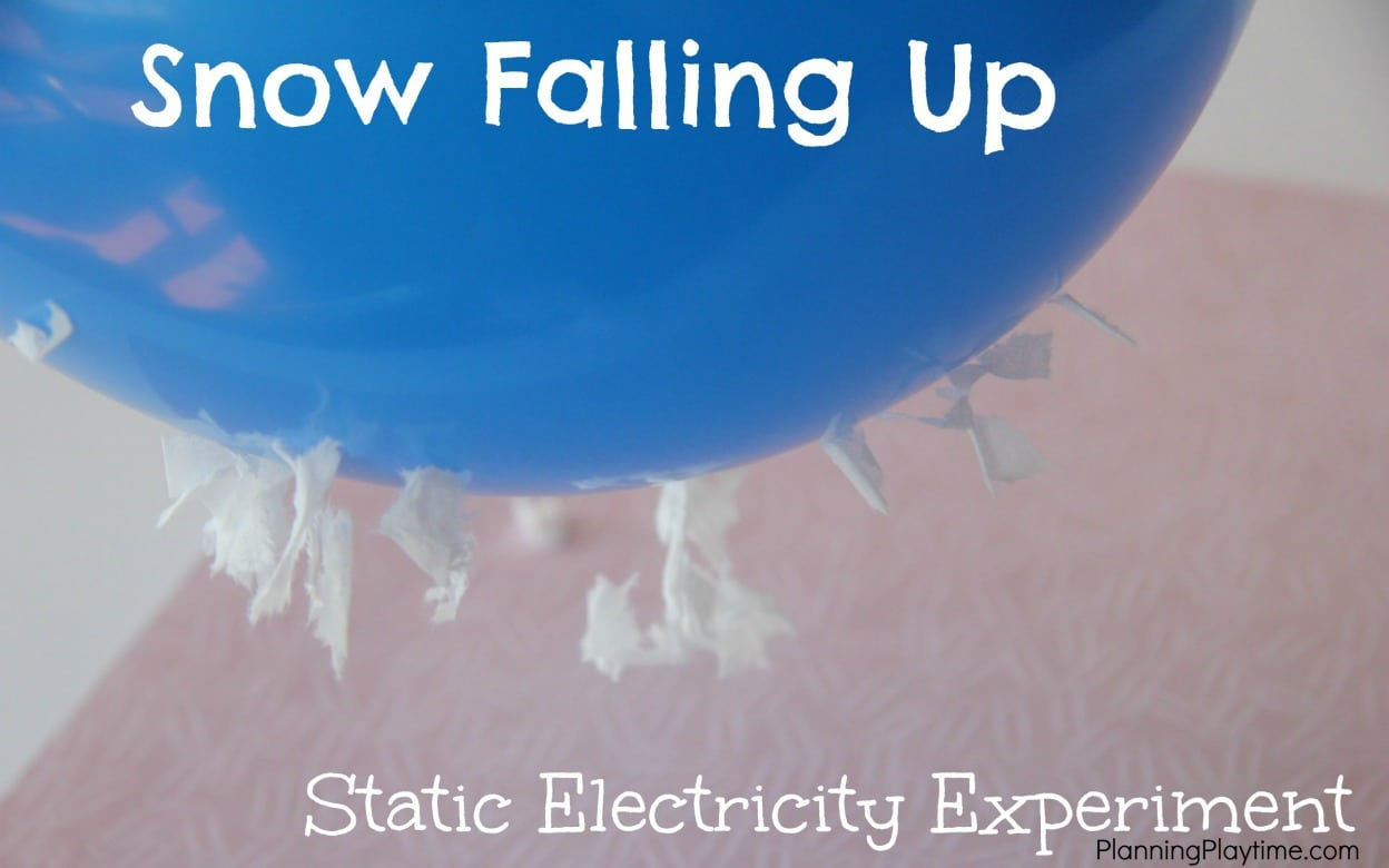 Static Electricity Science Experiment for Kids – Falling Up