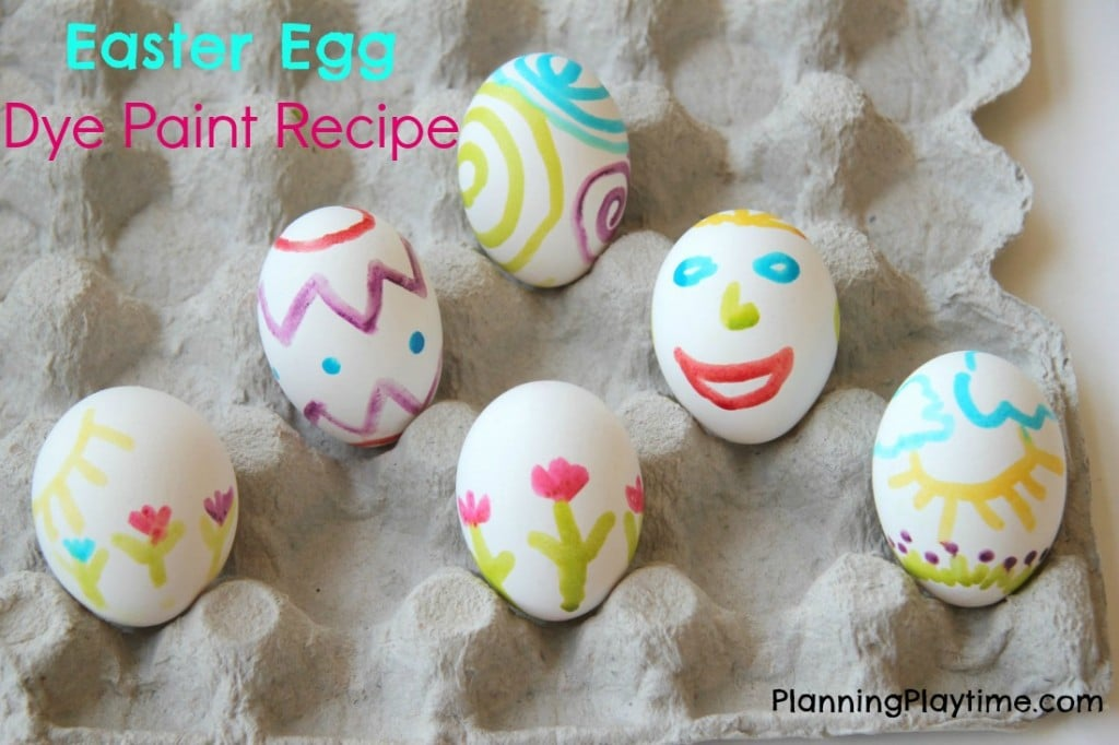 Two Ingredient Easter Egg Paint for kids