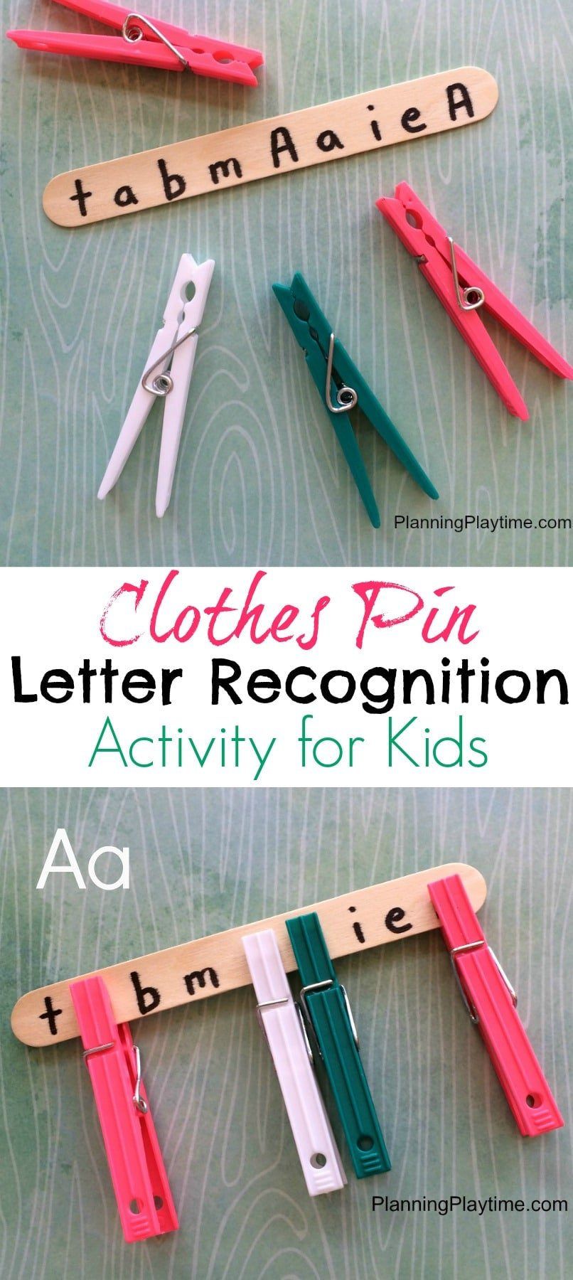 Clothes Pin Letter Recognition Activity for Preschool. So Fun!