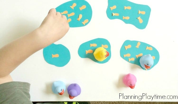 Goldfish Counting Activities - Count the fish in each pond. Place the correct duck in the pond.
