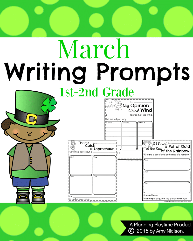 March Writing Prompts Cover