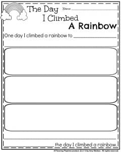 Narrative Writing Organizer The Day I climbed a rainbow