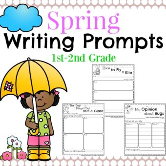Spring Writing Prompts for First Grade