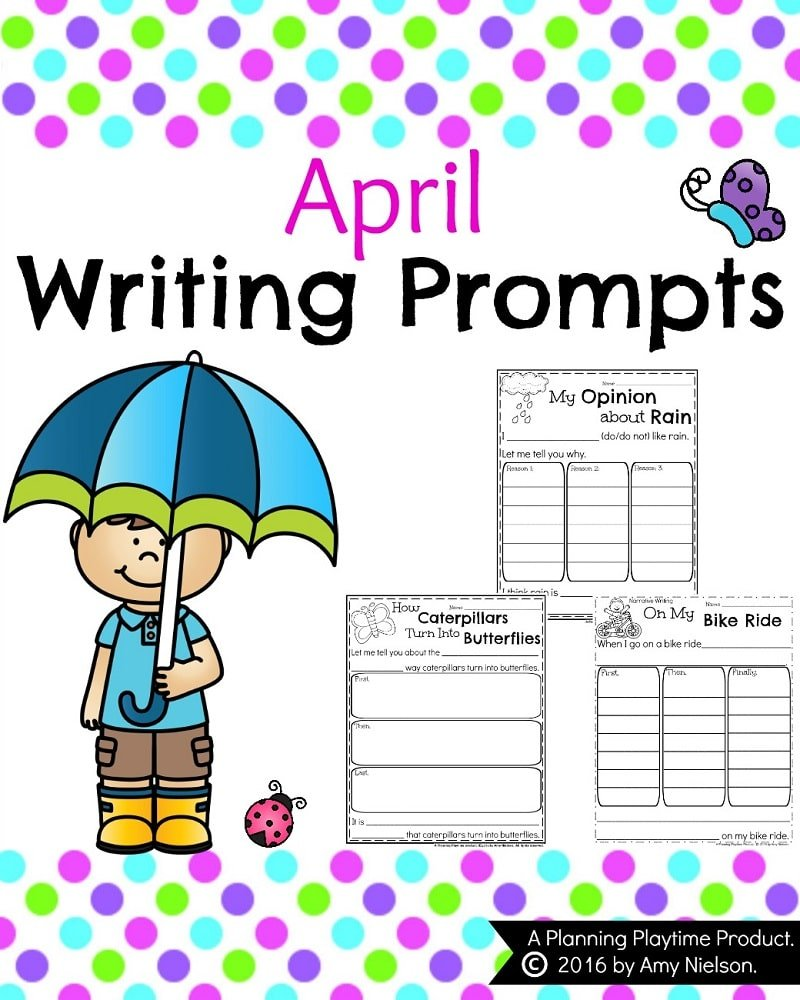 Spring Writing Prompts for April