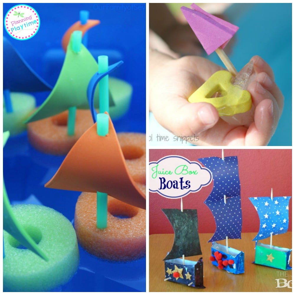 15 Amazing Boat Crafts for kids, and they actually float.