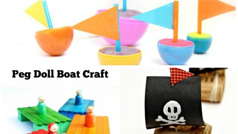 15 Fun Boat Crafts for Kids - and they all float.