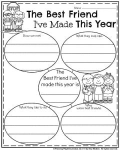 End of the Year Informative Writing Prompt - The Best Friend I've Made This Year.