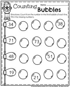 kindergarten worksheets for may  planning playtime kindergarten math worksheets  count and fill in the missing numbers