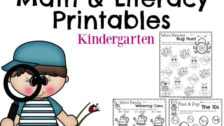 Kindergarten Worksheets for May Square.