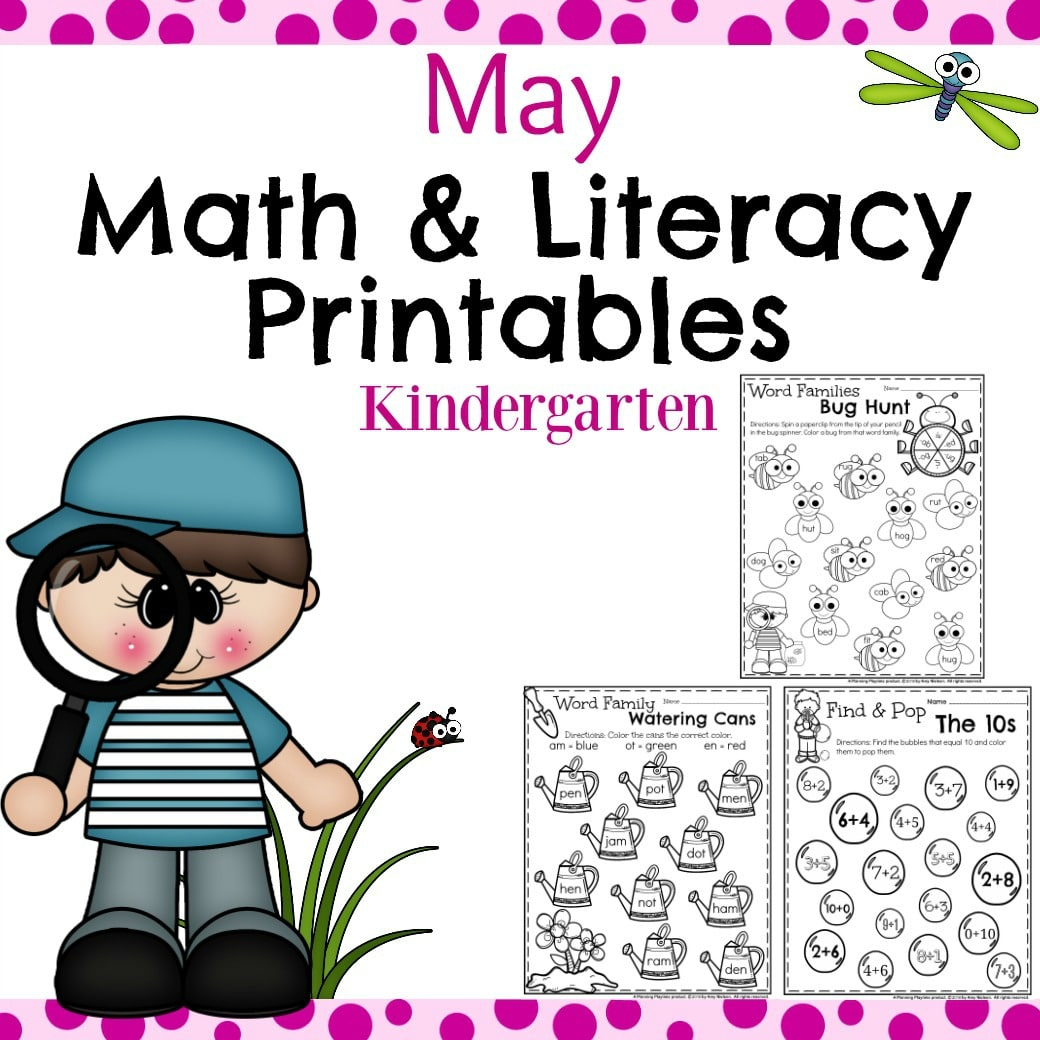 Literacy worksheets for kindergarten