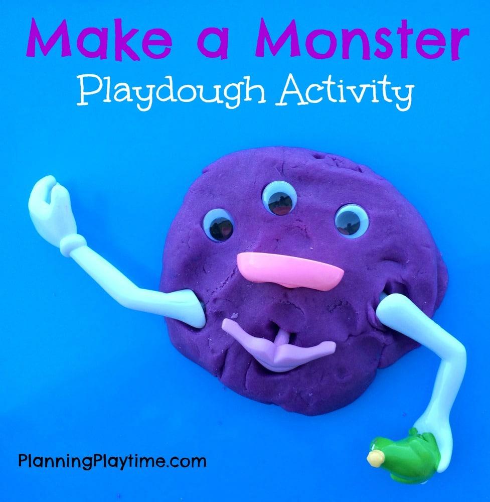 Make a Monster Playdough Activity