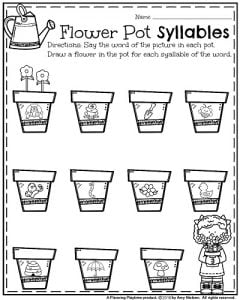 ... worksheets for may planning playtime : Syllable Practice Worksheets