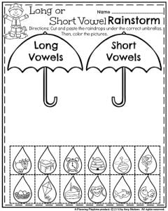 Kindergarten Worksheets For May  Planning Playtime May Kindergarten Worksheets  Long Or Short Vowels