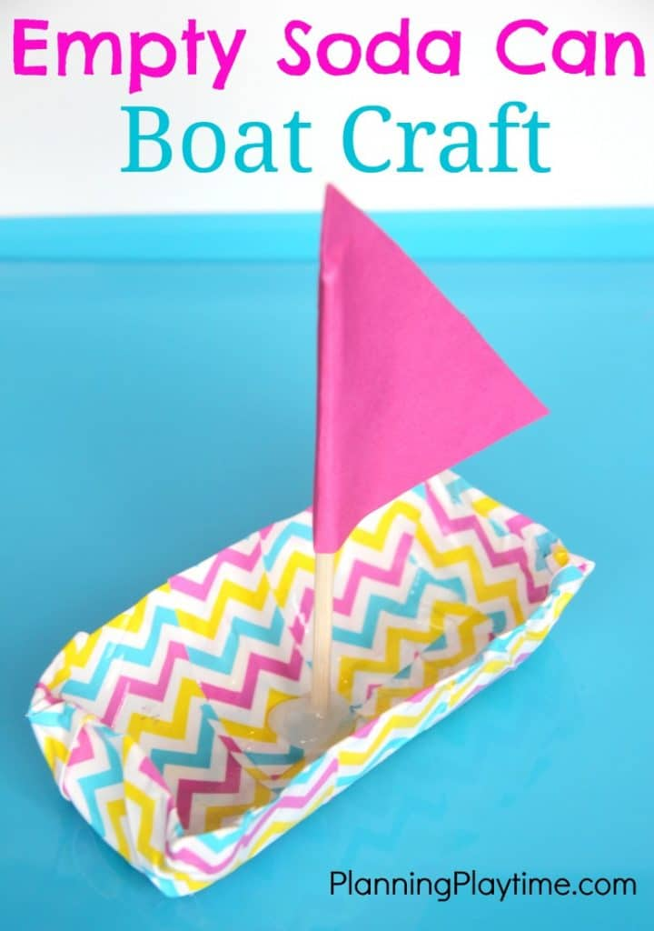 Soda Can and Duck Tape Boat Craft for Kids.
