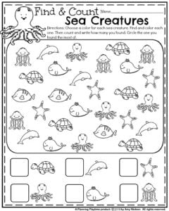 Kindergarten Math and Literacy Printables - Summer (2)