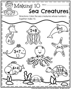 Kindergarten Math and Literacy Printables - Summer (3)