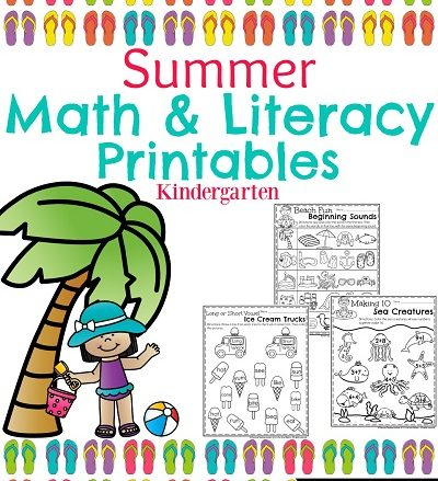 Summer Kindergarten Worksheets. Math, reading, writing, and more.