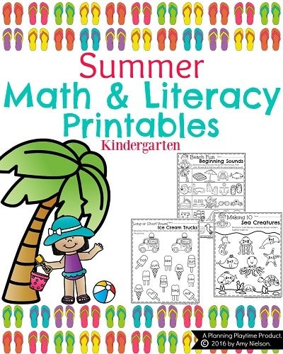 Kindergarten Math and Literacy Printables - Summer (4)