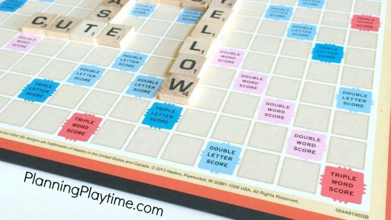 Fun Parts of Speech Grammar Game using Scrabble.