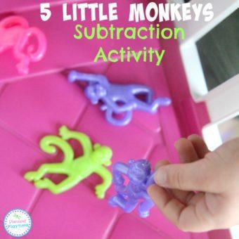 5 Little Monkeys Subtraction Activity