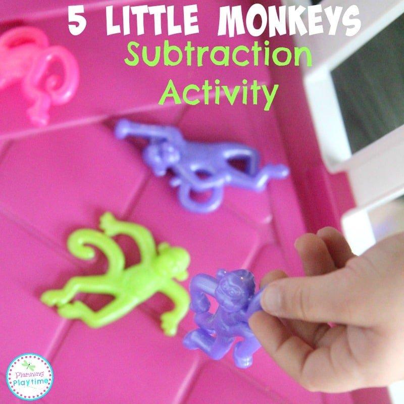 5 Little Monkeys Subtraction Activity.