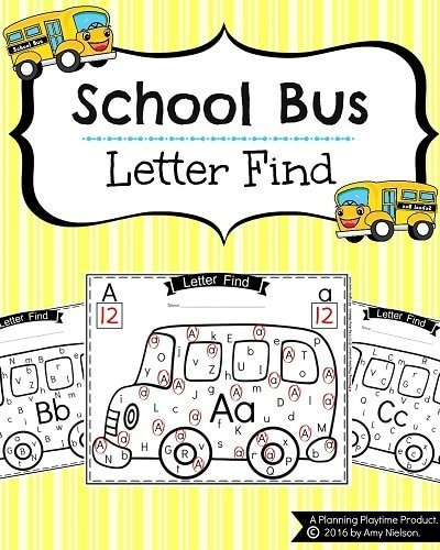 Alphabet Letter Find - Back to School Theme