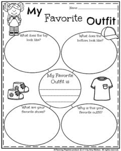 Back to School Writing Prompts - Informative My Favorite Outfit