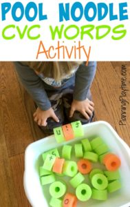 Pool Noodle Reading Activity for Kids