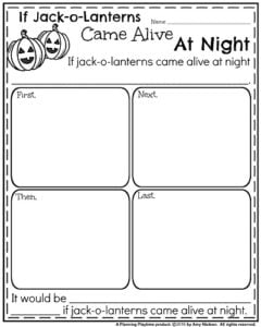 Fall Writing Prompts - Narrative If Jack-o-Lanterns Came Alive at Night