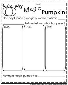 Fall Writing Prompts - Narrative My Magic Pumpkin