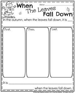 Fall Writing Prompts - Narrative When the Leaves Fall Down