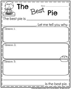 Fall Writing Prompts - Opinion The Best Pie