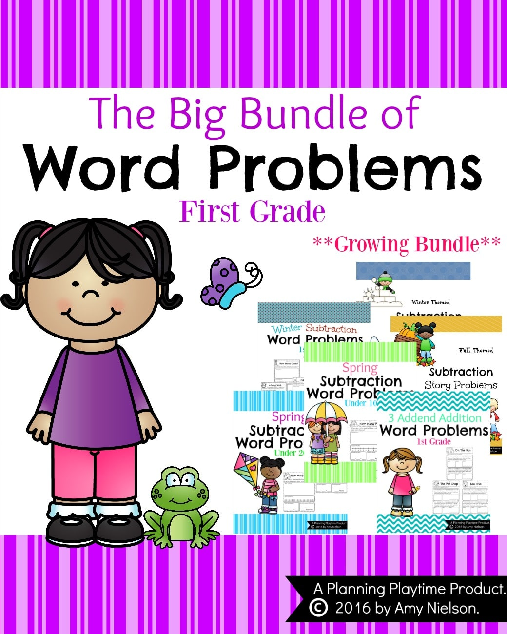 First Grade Word Problems - Growing Bundle
